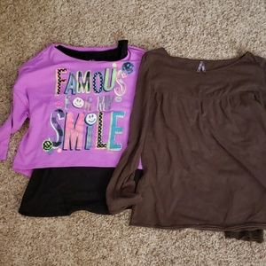 Set of 2 shirts: Justice and Old Navy
